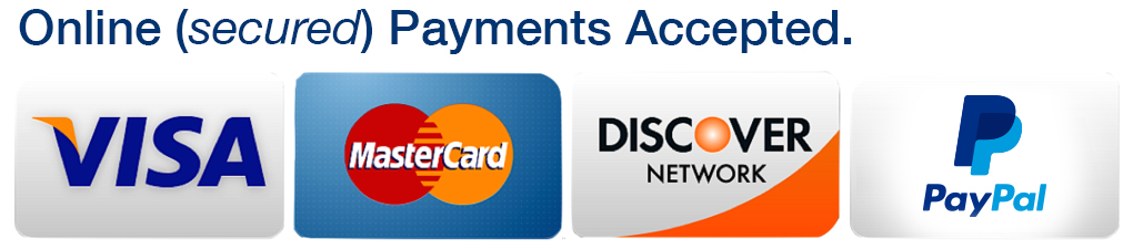 Credit Card and PayPal Acceptance Marks